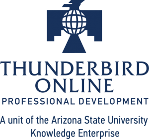 Blue logo of Thunderbird Online Executive Education